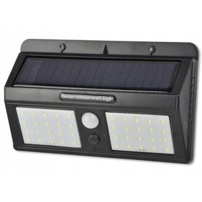 BERGE LED solární svítidlo 40 6W se senzorem pohybu a soumraku - studená bílá