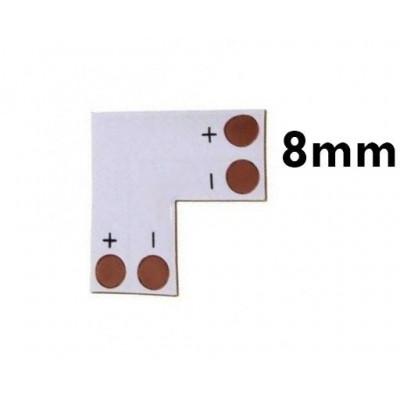 ECOLIGHT Rohová spojka pro LED pásky 3528 8mm