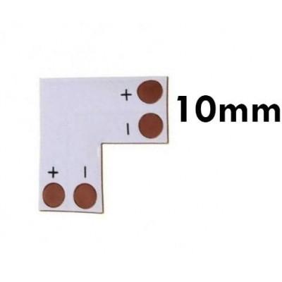 ECOLIGHT Rohová spojka pro LED pásky 5050, 5630 10mm