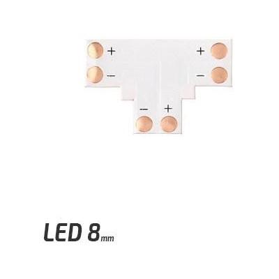 BERGE Spojka pro LED pásky - T - CN16 - 8mm - 2pin - SMD 3528, 2835, 3014