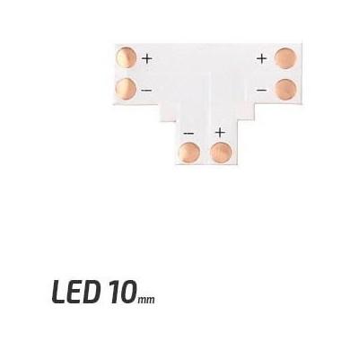 BERGE Spojka pro LED pásky - T - CN17 - 10mm - 2pin - SMD 5050, 5630, 5730
