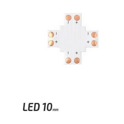 BERGE Spojka pro LED pásky - X - CN21 - 10mm - 2pin - SMD 5050, 5630, 5730