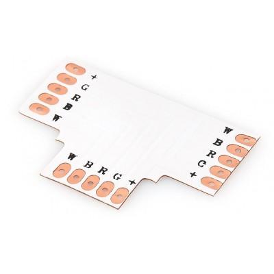 BERGE Spojka pro RGBW LED pásky - T - CN63 - 12mm - 5pin
