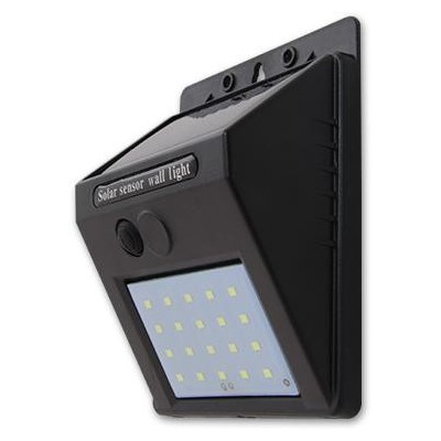 MASTER LED solární lampa 20SMD se senzorem soumraku - studená bílá
