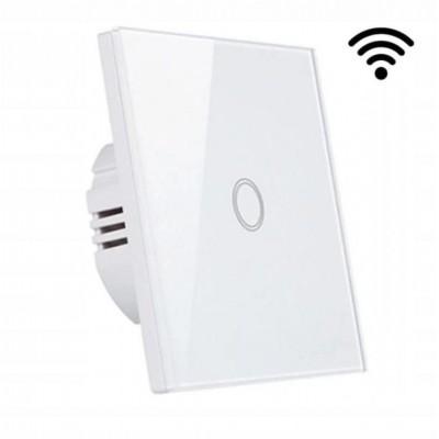 MILIO Dotykový skleněný bezdrátový vypínač 9608 - bílý