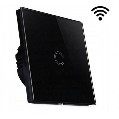 MILIO Dotykový skleněný bezdrátový vypínač 9609 - černý