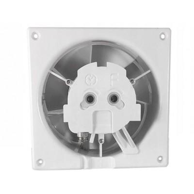 BERGE Koupelnový skleněný ventilátor 125 HIGROSTAT SILENT