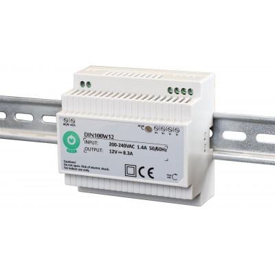 BERGE Napájecí zdroj pro LED na DIN lištu - 8,3A - 100W - 12V DC
