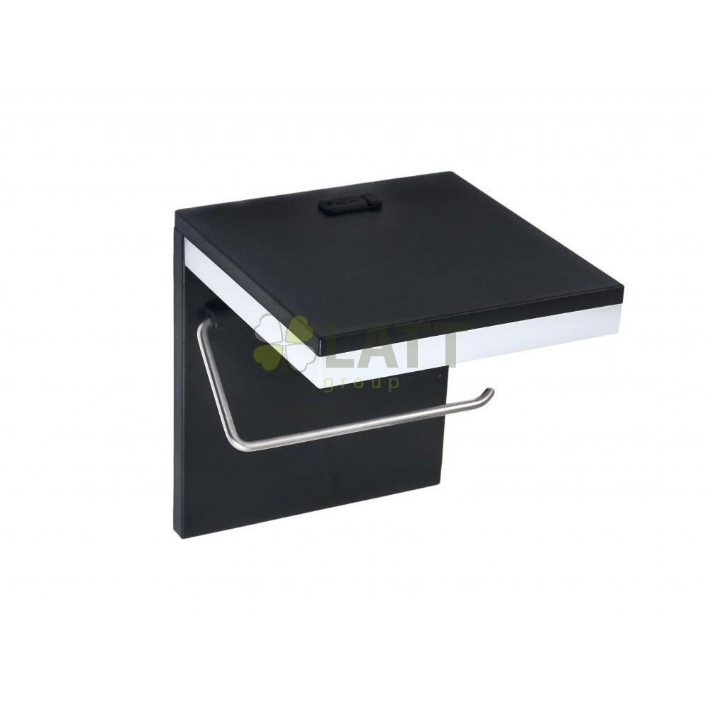 BERGE LED držák na toaletní papír s USB 5W - neutrální bílá