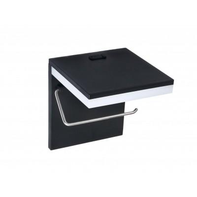 BERGE LED držák na toaletní papír s USB 5W - studená bílá
