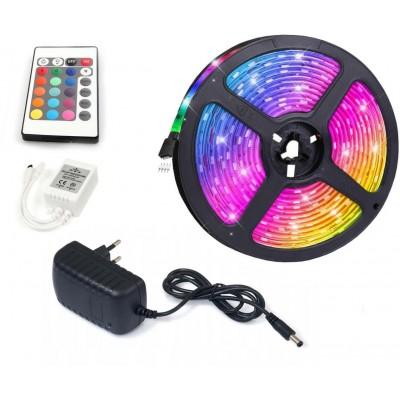 ECOLIGHT LED pásek - RGB 5050 - 5m - 30LED/m - 36W/5m - IP20 - SADA