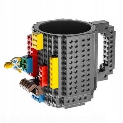 BERGE LEGO kreativní hrnek velký - 350 ml - šedý