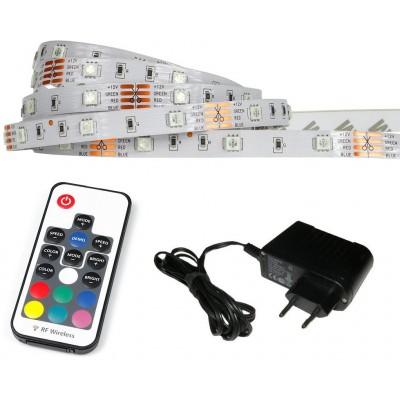 ECOLIGHT LED pásek - RGB - 2,5m - 30LED/m - IP20 - rádiový DÁLKOVÝ OVLADAČ K17 - komplet
