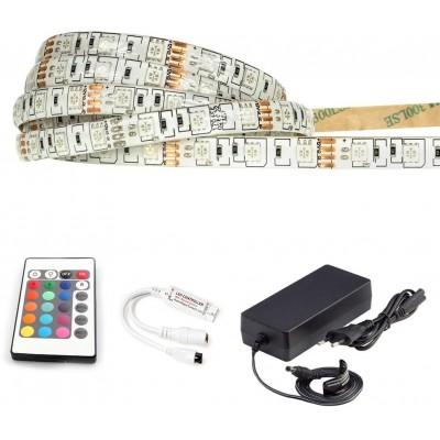 ECOLIGHT LED pásek - RGB 5050 - 2,5m - 60LED/m - IP65 - komplet