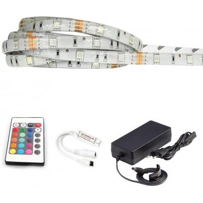 ECOLIGHT LED pásek - RGB 5050 - 5m - 30LED/m - 7,2W/m - IP65 - komplet