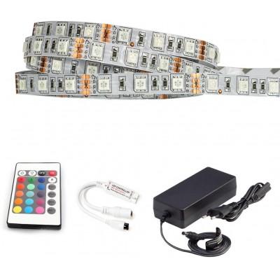ECOLIGHT LED pásek - RGB 5050 - 5m - 60LED/m - 14,4W/m - IP65 -  komplet