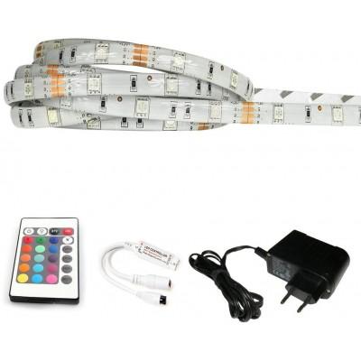 ECOLIGHT LED pásek - RGB SMD 5050 - 2,5m - 30LED/m - 18W - IP65 - SADA