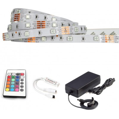 ECOLIGHT LED pásek - RGB SMD 5050 - 5m - 30LED/m - 7,2W/m - IP20 - komplet
