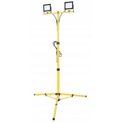 BERGE LED reflektor 2x100 W + stativ + kabel 3m