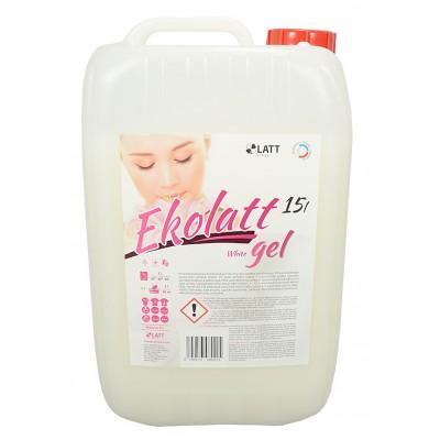 EKOLATT WHITE prací gel na bílé a stálobarevné prádlo 15L