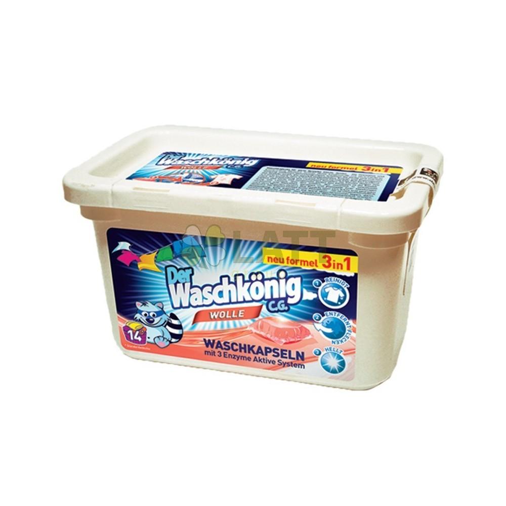 Waschkönig Wolle kapsle na praní 14 ks