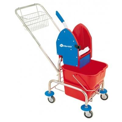 Roll MO2 - Úklidový vozík jednokbelíkový,pochromovaná konstrukce