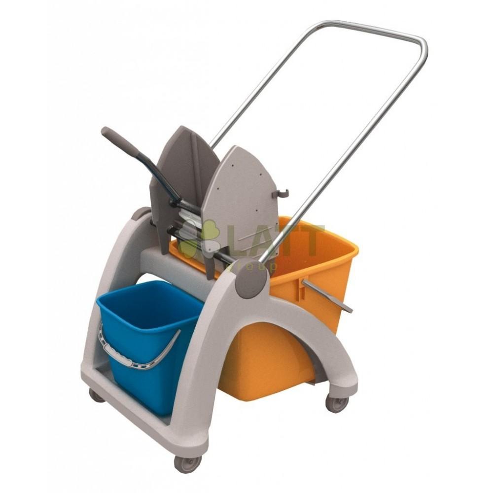 Úklidový vozík Roll-Mop s plastovou konstrukcí - MO2P