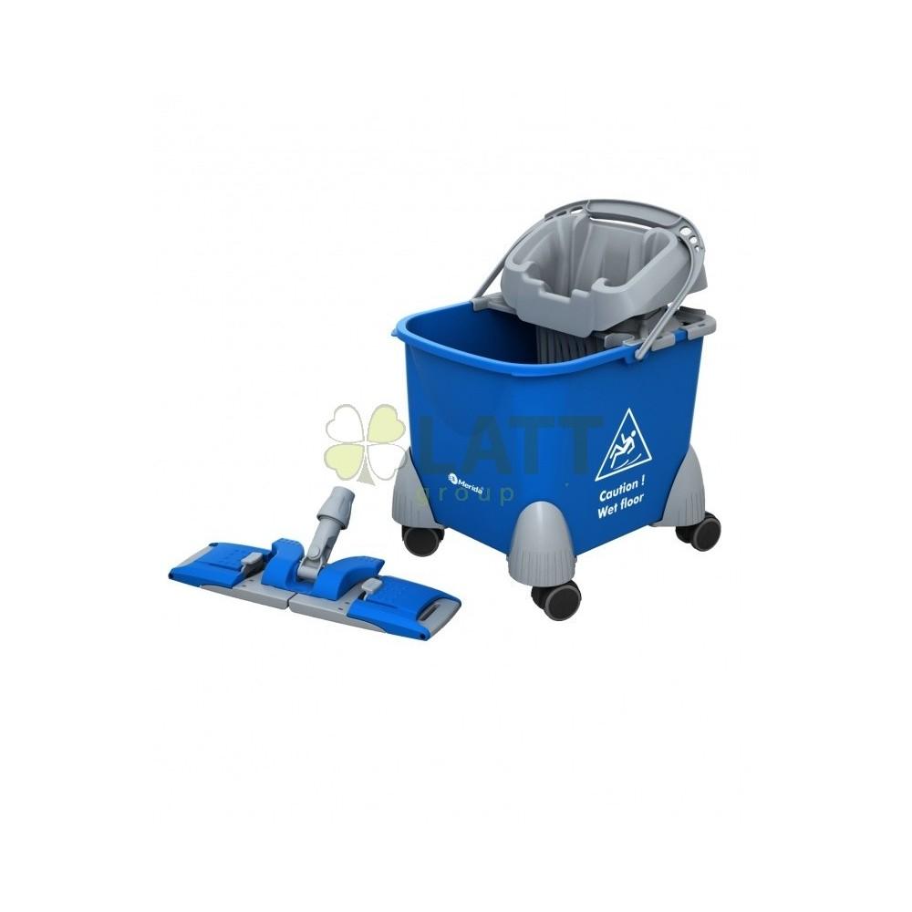 Úklidový vozík PIKO, vědro + držák mopu - HFW103