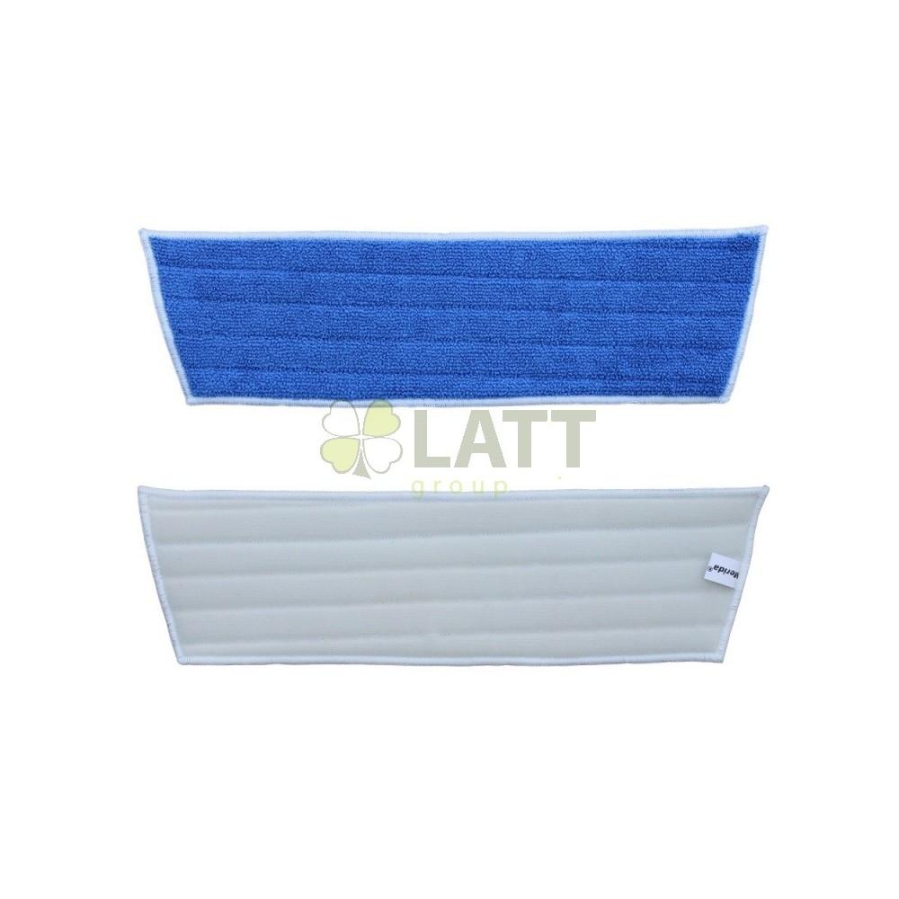 Mop z mikrovlákna ECONOMY na suchý zip, modrý, 45x40x13 cm - SEP341