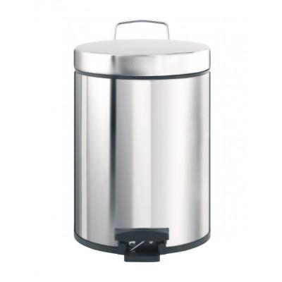 Odpadkový koš nášlapný kovový nerez lesk 20 l