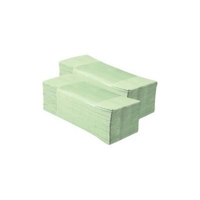 Jednotlivé papírové ručníky zelenkavé 5000ks skládané