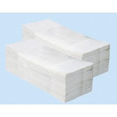 Jednotlivé papírové ručníky SUPER BÍLÉ 4000 ks skládané