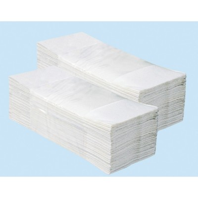 Jednotlivé papírové ručníky IDEAL 3200 ks - 100% celuloza, 2 vrstvé, skládané