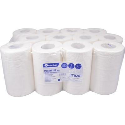 Merida TOP MINI - Papírové ručníky v rolích, 2 vrstvé, 100% celulosa, (12rolí/balení)