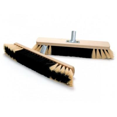 Smeták na hůl dřevěný nelak. 80 cm (s kováním)
