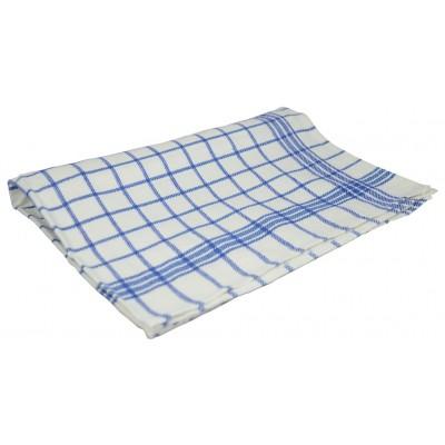 MONA Kuchyňská utěrka mřížka 50x70 cm modrá