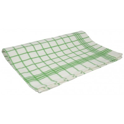 MONA Kuchyňská utěrka mřížka 50x70 cm zelená