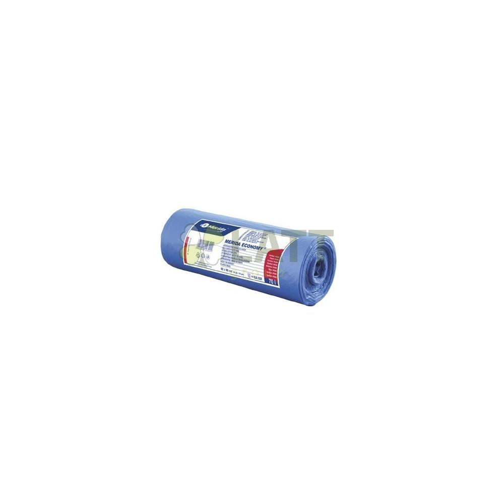 Sáčky na odpadky MDP 6 mi, 60x90cm,70 l,modré 50 ks/b