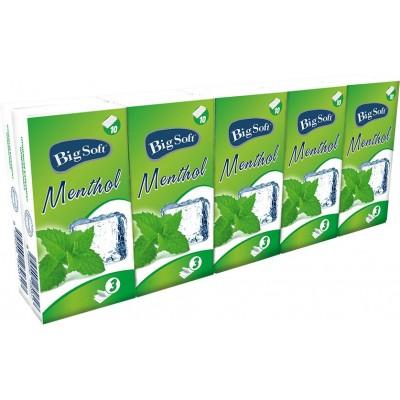 Big Soft papírové kapesníčky Mentol, 3 vsrtvy