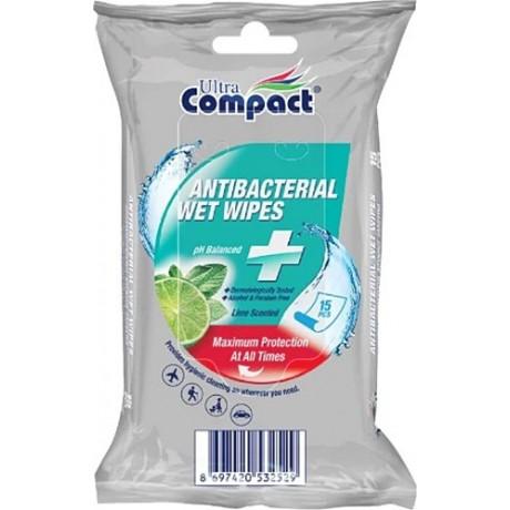 Ultra Compact Antibakterialní ubrousky 15ks