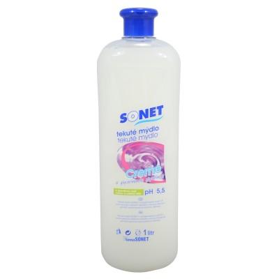 Sonet tekuté mýdlo s glycerínem Bílé Lavander Sandalwood 1 l