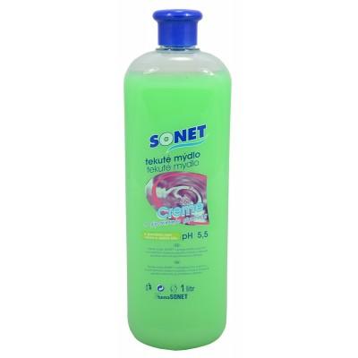 Sonet tekuté mýdlo s glycerínem Zelené Apple Olive 1 l