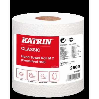 Papírový ručník v roli Katrin Classic M2 2vrstvý, bílá, 6ks/bal.
