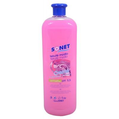 Sonet tekuté mýdlo s glycerínem Růžové Rose 1 l