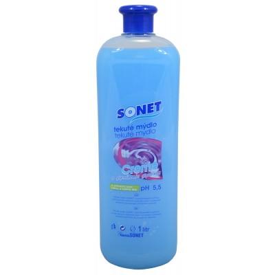 Sonet tekuté mýdlo s glycerínem Modré Blue Air 1 l