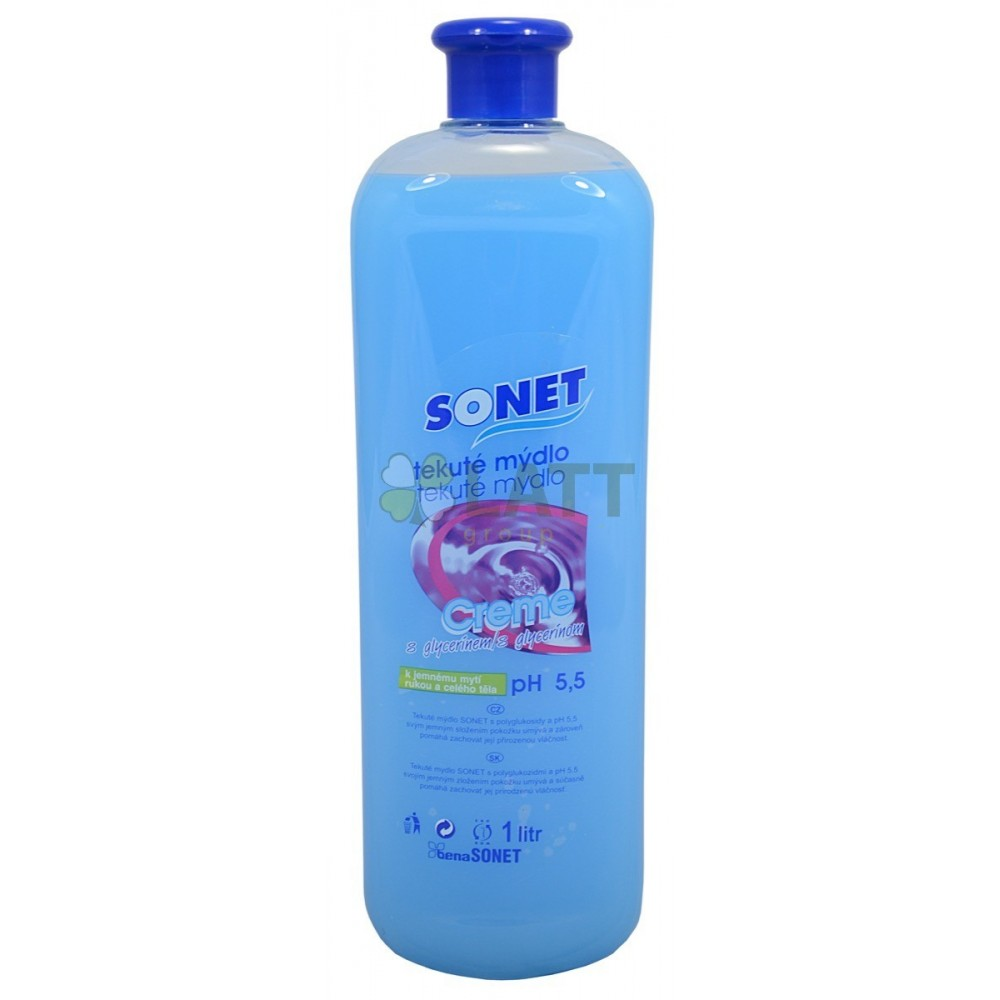 Sonet tekuté mýdlo s glycerínem Bílé Lavander Sandalwood 500 ml
