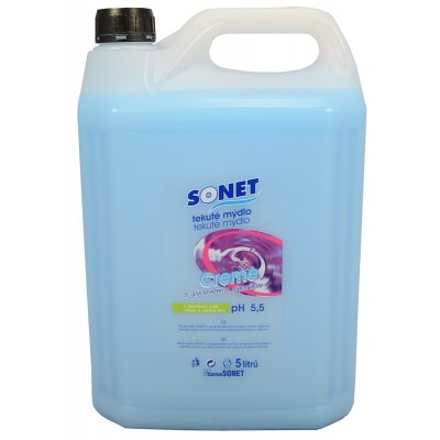 Sonet tekuté mýdlo s glycerínem Modré Blue 5 l