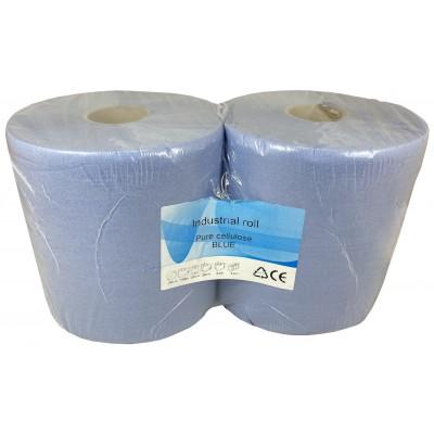 Průmyslová role 2vr.celulóza lepená, modrá,190m,2ks/bal.