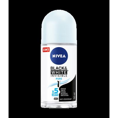 Nivea Invisible for Black & White Pure roll-on 50 ml