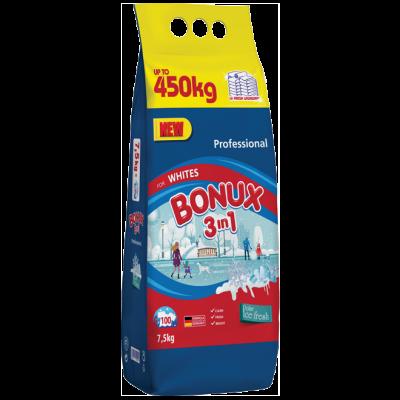Bonux 3v1 s jedinečnou svěží vůní je určený na bílé prádlo.